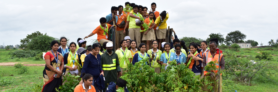 IBDP Students Plant Saplings to Save Environment